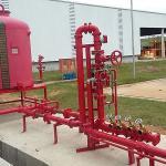 Sistema contra incêndio de espuma